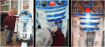 Kenny Baker and R2D2